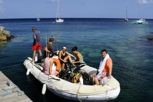 départ bateau exploration